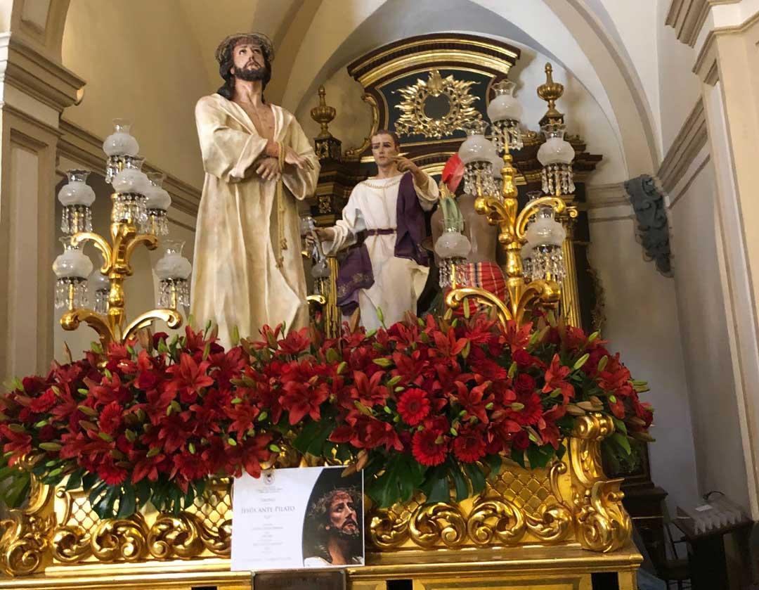 Jesús ante Pilatos. Foto: Antonio López