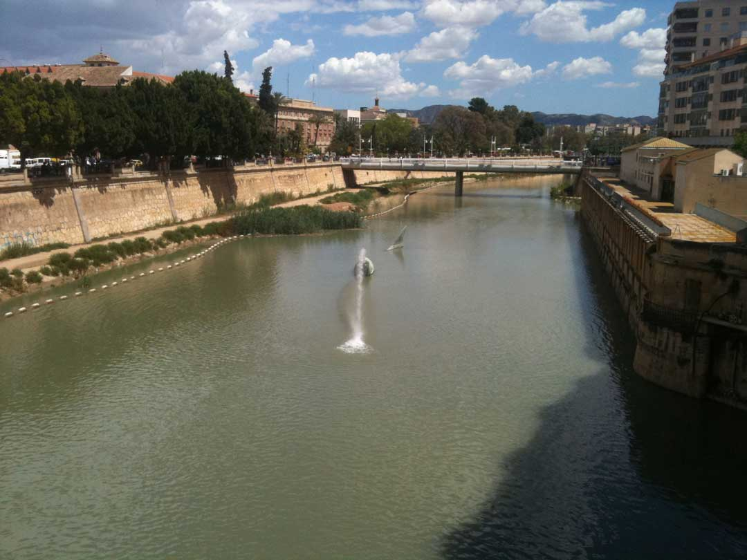 rio segura a su paso por murcia