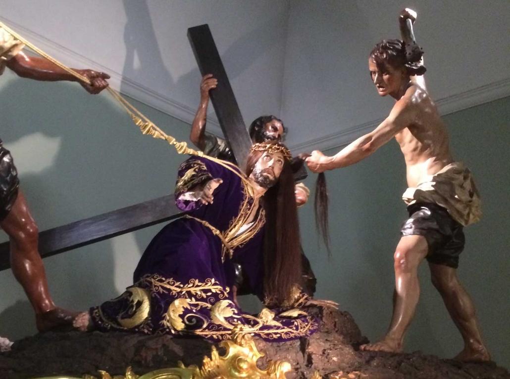 detalle de Jesús en La Caída de Salzillo